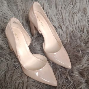 Nine West  Anisa nude block pumps